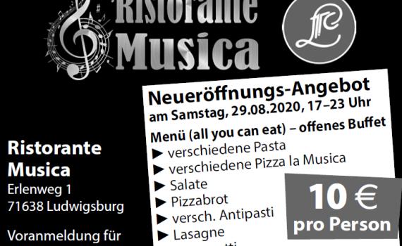 "Neueröffnung ""Ristorante Musica"""